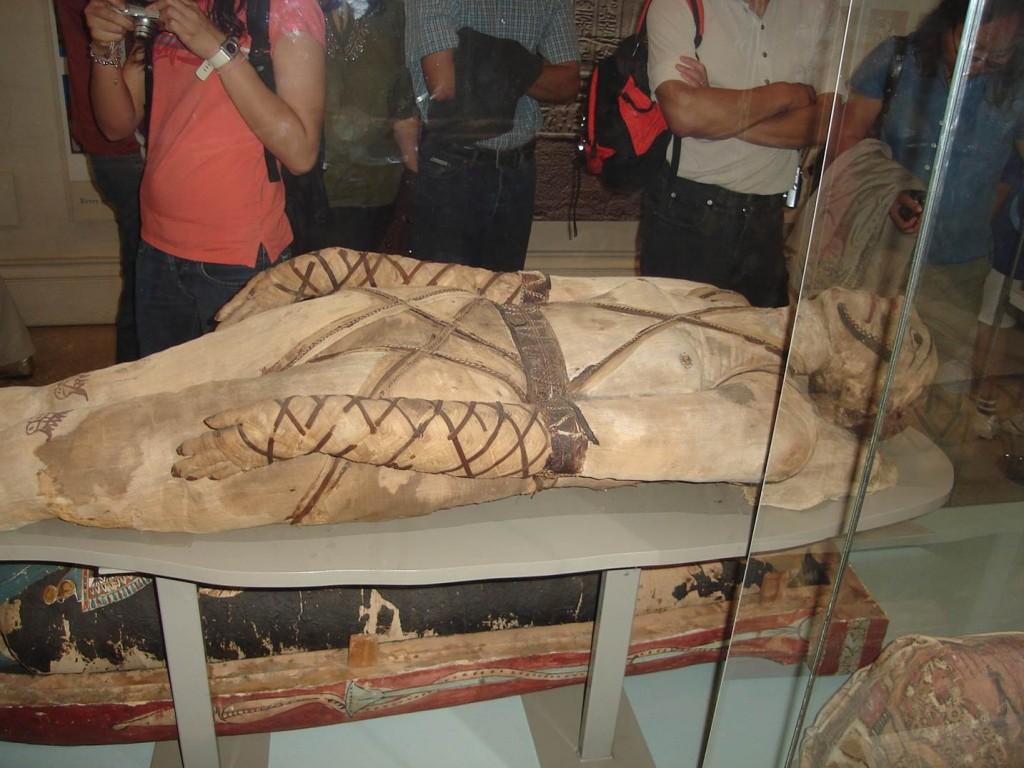 Uma das múmias do British Museum. Foto: Marcelle Ribeiro
