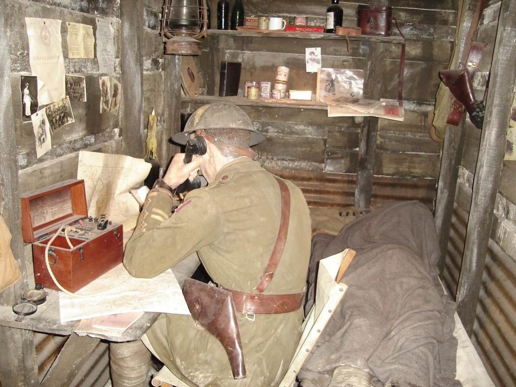 Boneco na guerra, no Churchill Museum and Cabinet War Rooms. Foto: Marcelle Ribeiro