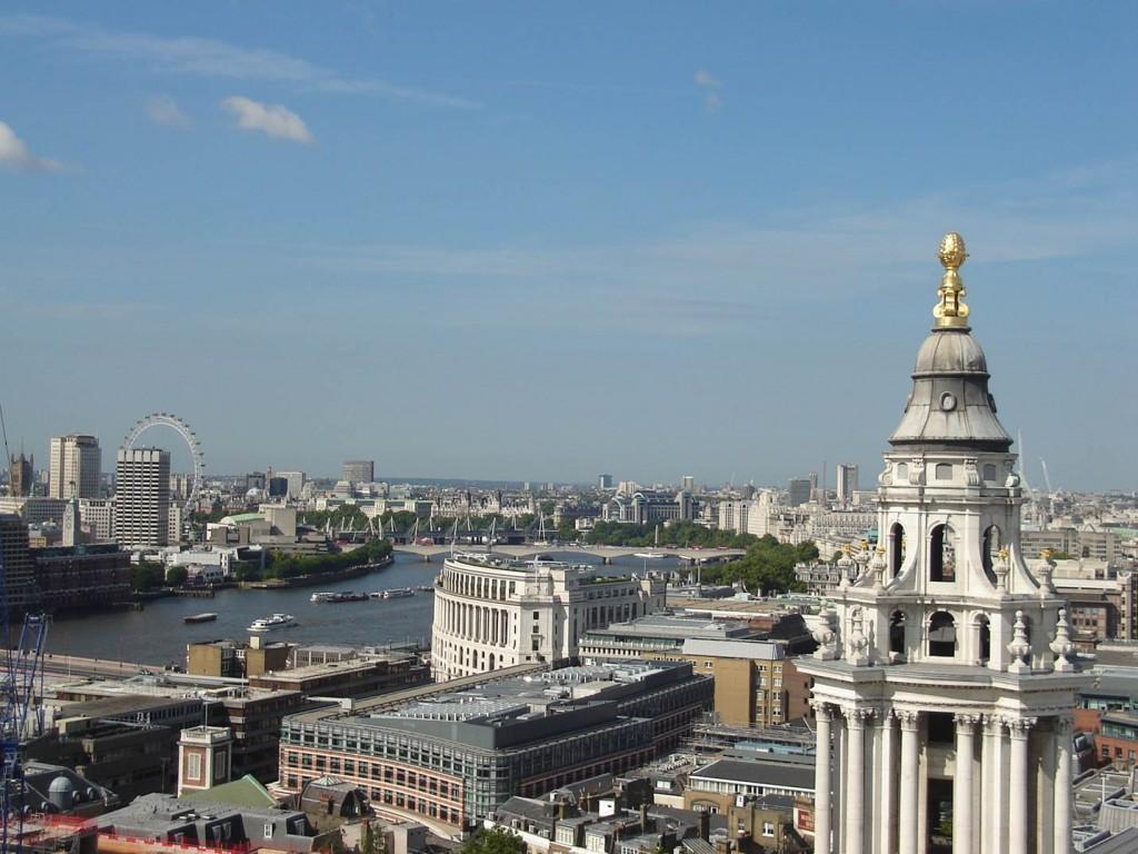 O visual de Londres visto do alto da St. Paul's Cathedral. Foto: Marcelle Ribeiro