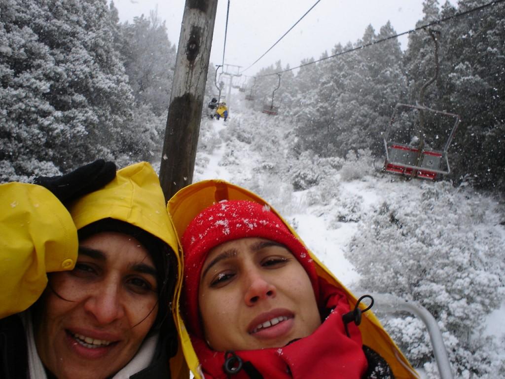 Passando frio na subida do Cerro Campanário. Foto: Marcelle Ribeiro