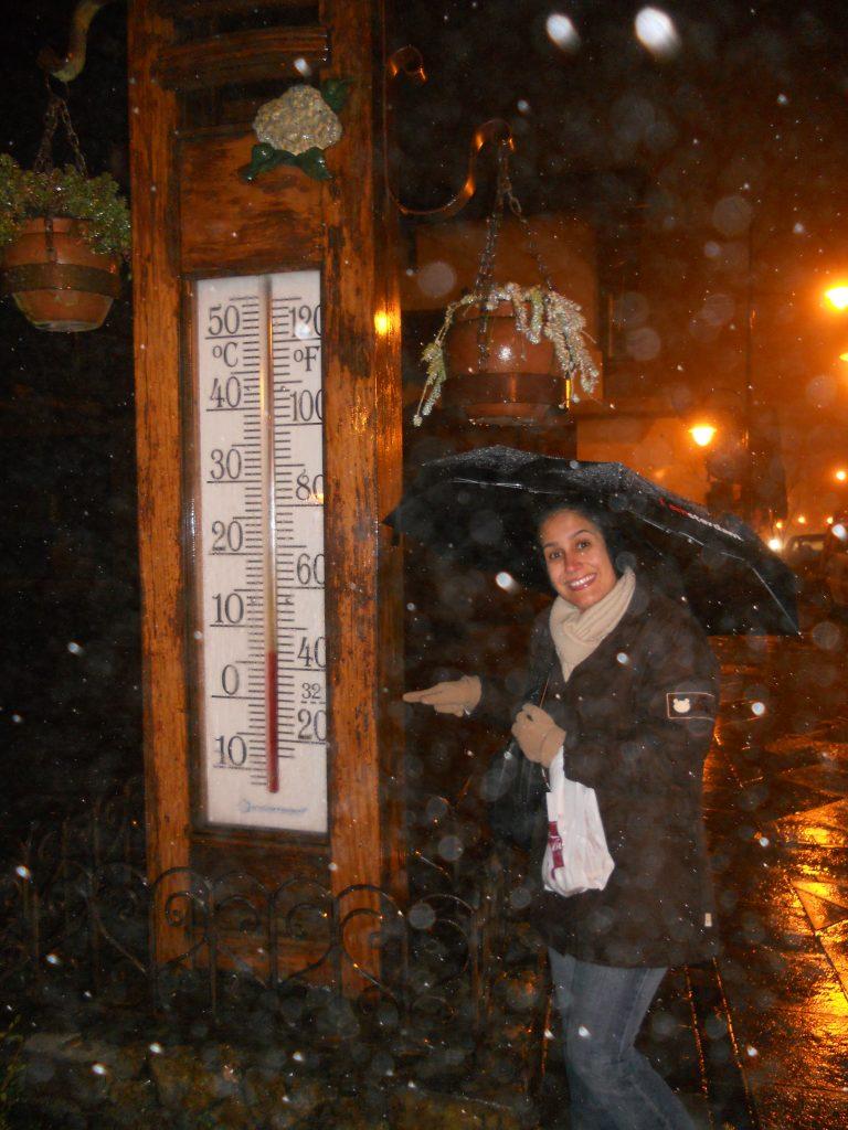 Tá lá no termômetro: 6 graus Celsius! Foto: Guilherme Calil