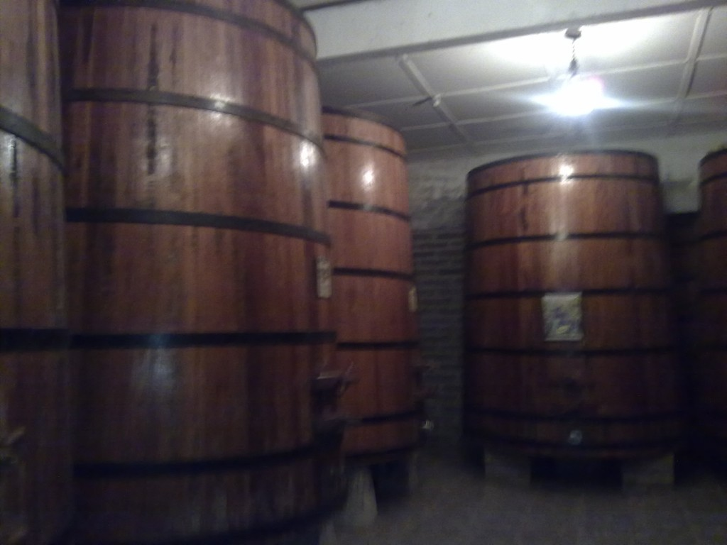 Tonéis de vinho na vinícola Jolimont. Foto: Marcelle Ribeiro