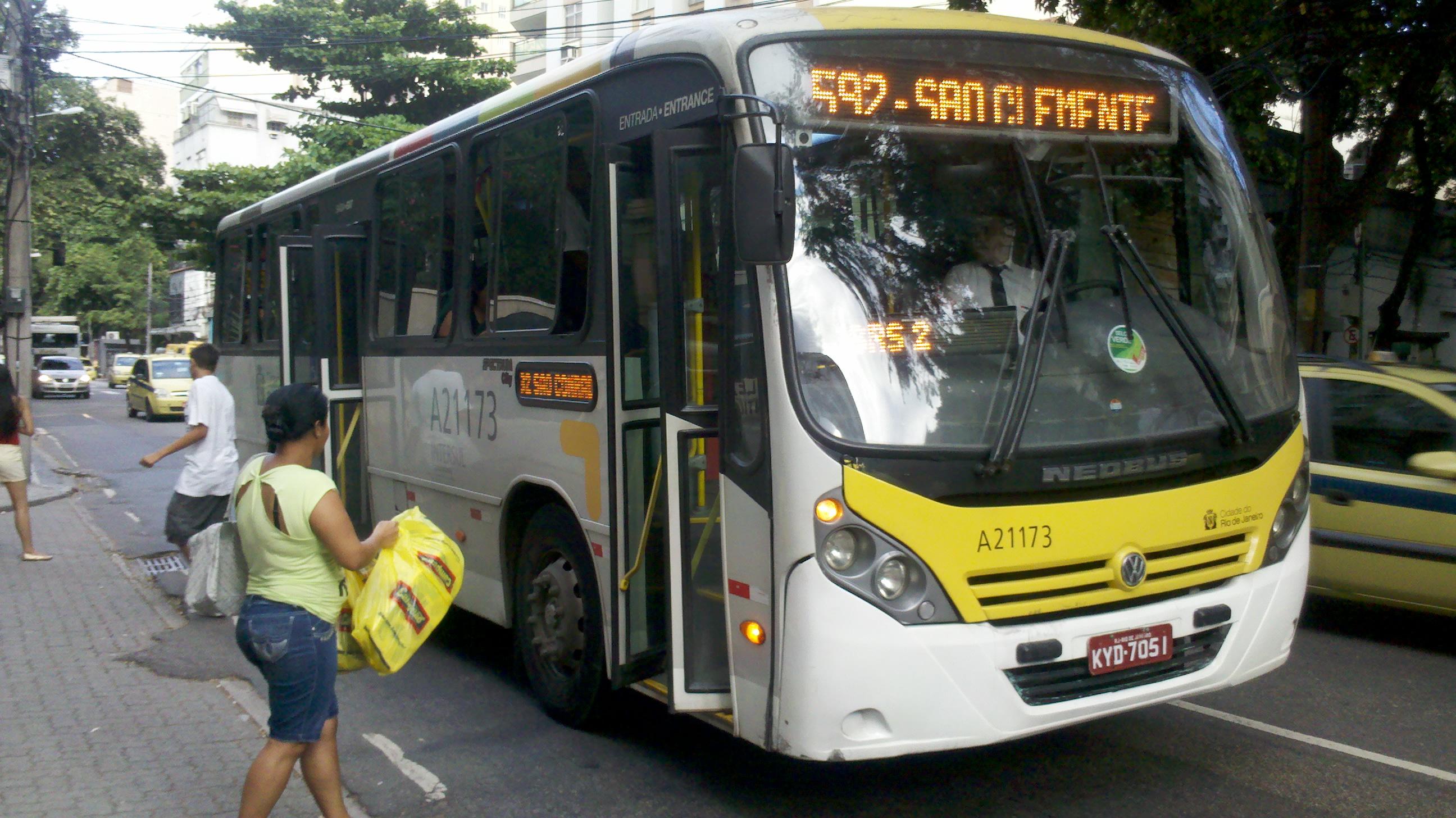 Ônibus no Rio. Foto: Ticianne Ribeirp