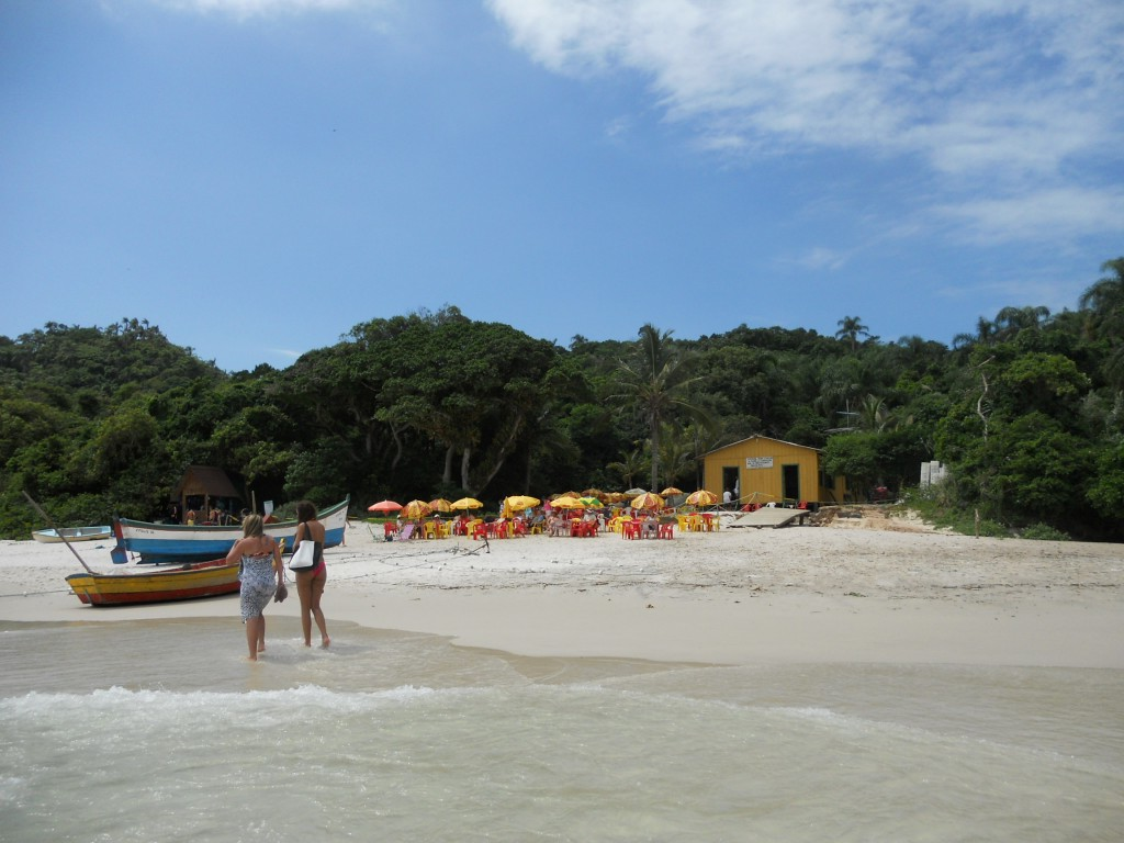 Restaurante da Ilha do Campeche. Foto: Marcelle Ribeiro
