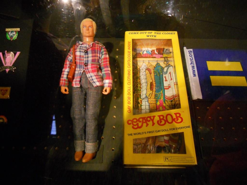 """O """"Gay Bob"""" numa exposição do Museum of The City of New York. Foto: Marcelle"""