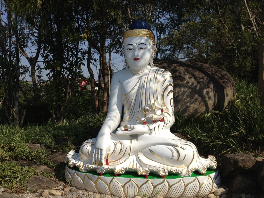 Imagem no templo budista Zu Lai. Foto: Marcelle Ribeiro