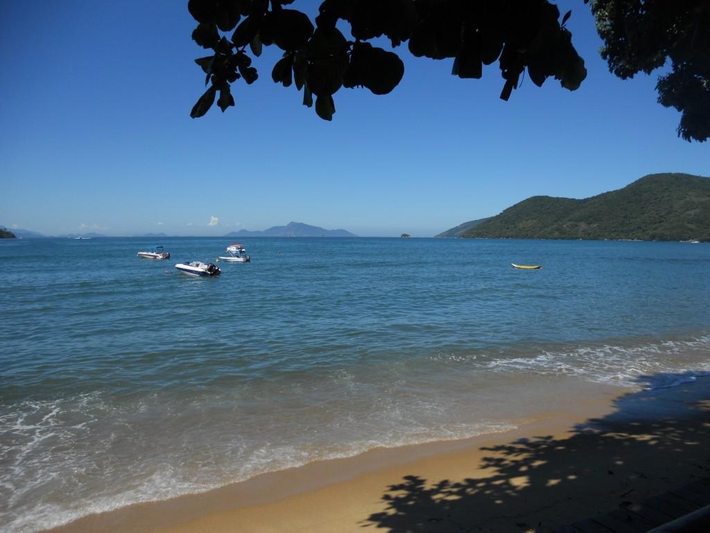 A Praia de Fora, vista da nossa mesa no almoço. Foto: Marcelle Ribeiro