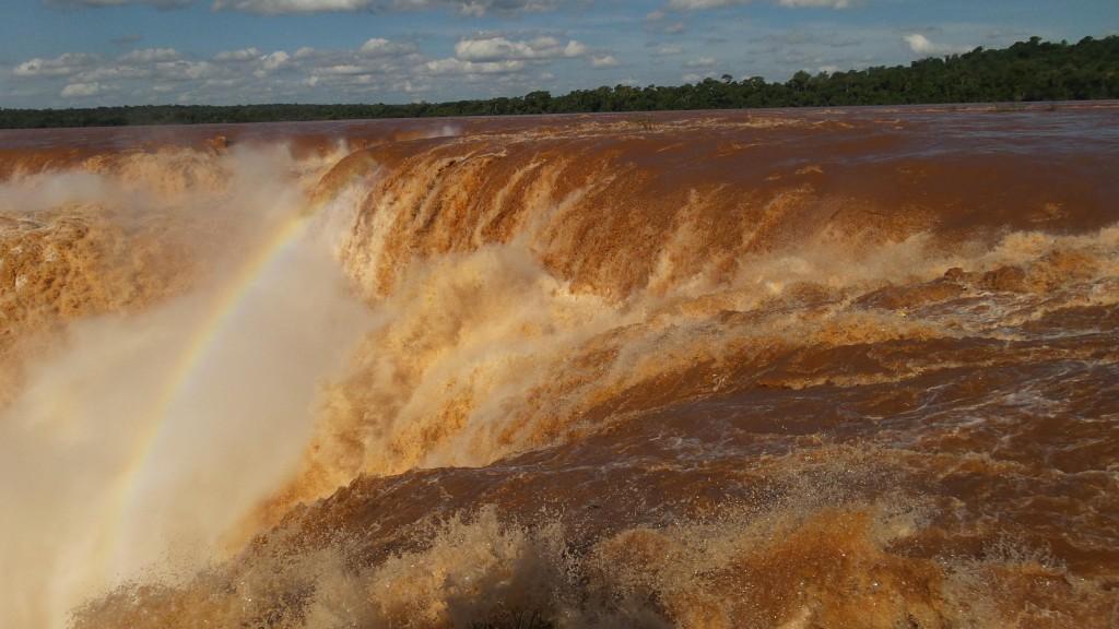 Garganta do Diabo, no Parque Nacional Iguazú. Foto: Marcelle Ribeiro