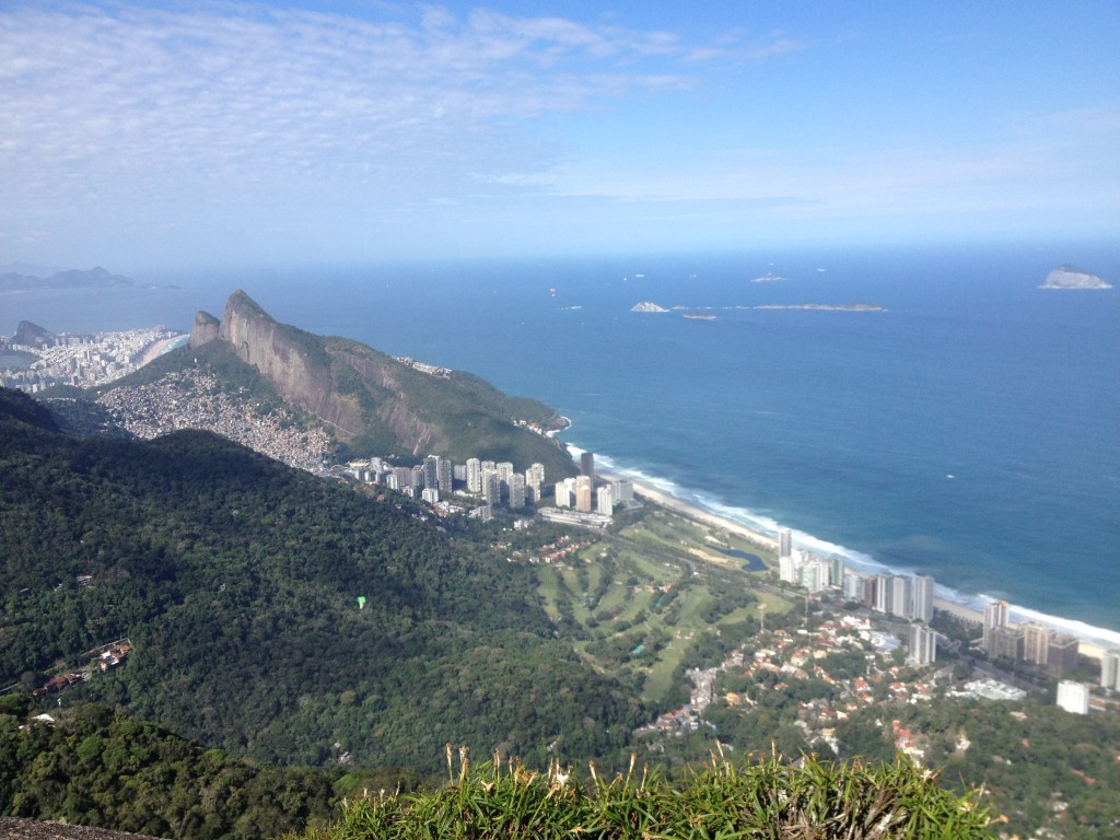 Vista de São Conrado a partir da Pedra Bonita. Foto: Marcelle Ribeiro
