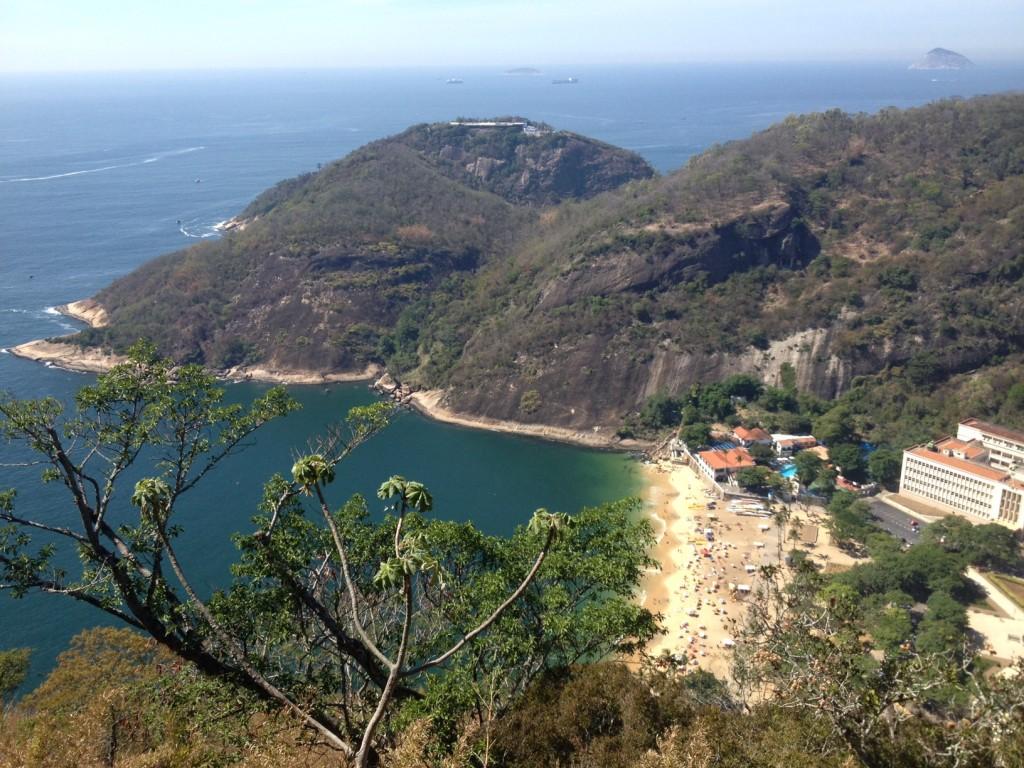 Vista da Praia Vermelha do Morro da Urca. Foto: Marcelle Ribeiro