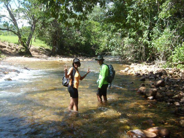 caminho para a cachoeira do segredo