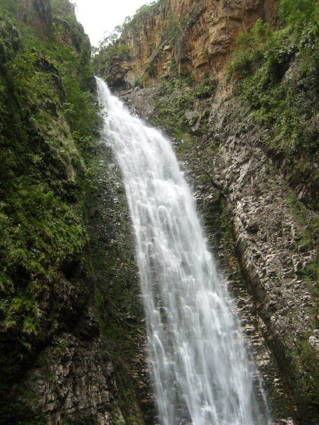 Cachoeira do Segredo, na Chapada dos Veadeiros.