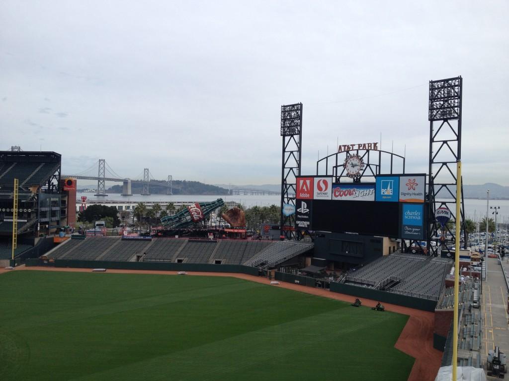 Vista do estádio do San Francisco Giants. Foto: Guilherme Calil