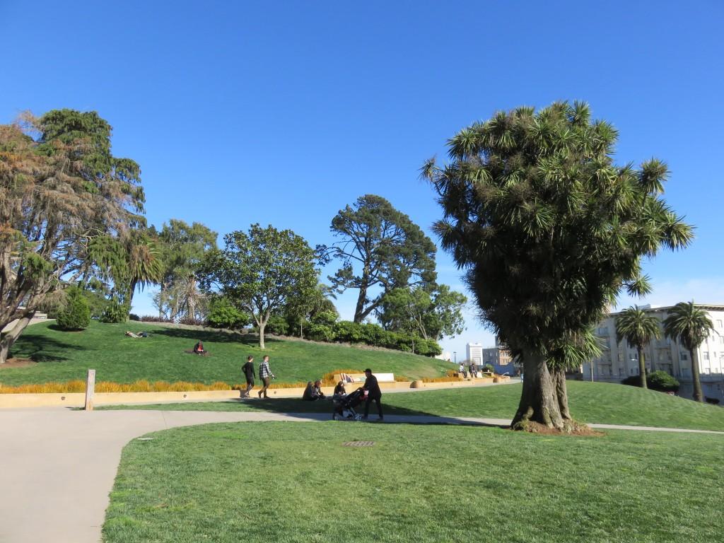 Lafayette Park, em San Francisco. Foto: Marcelle Ribeiro