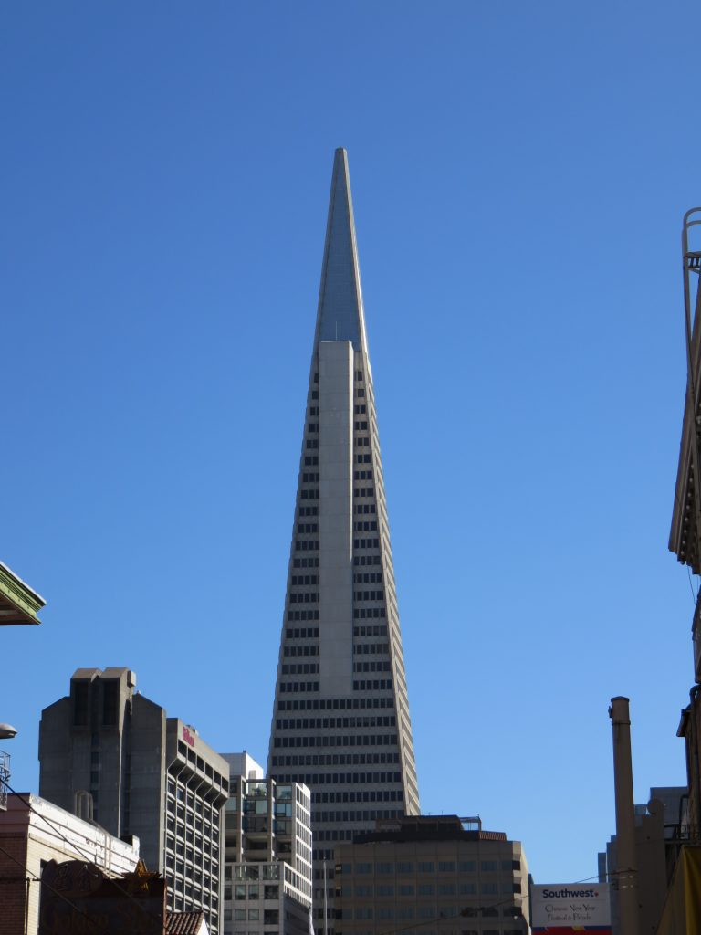 Transamerica Pyramid, prédio de San Francisco. Foto: Marcelle Ribeiro