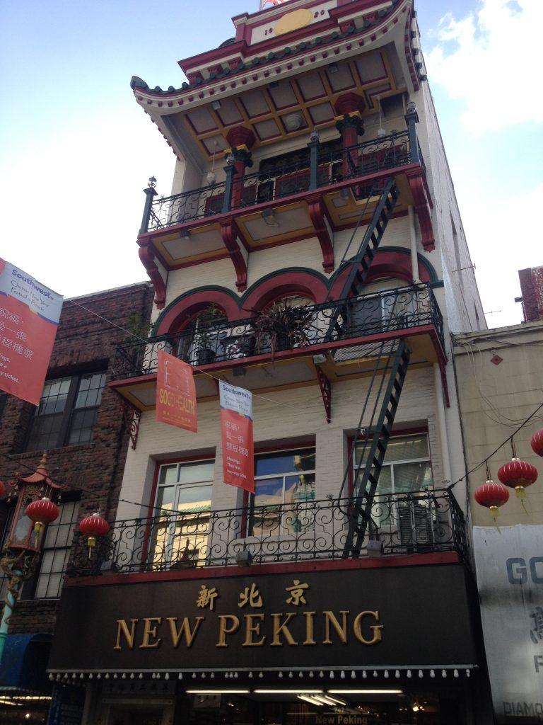 Prédio em estilo asiático em Chinatown, San Francisco. Foto: Marcelle Ribeiro