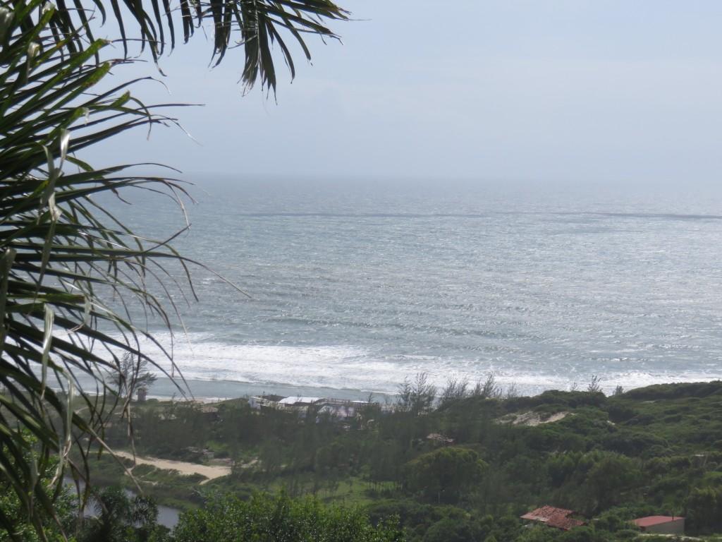 Vista da trilha da Praia do Rosa  para a Praia do Luz. Foto: Marcelle Ribeiro