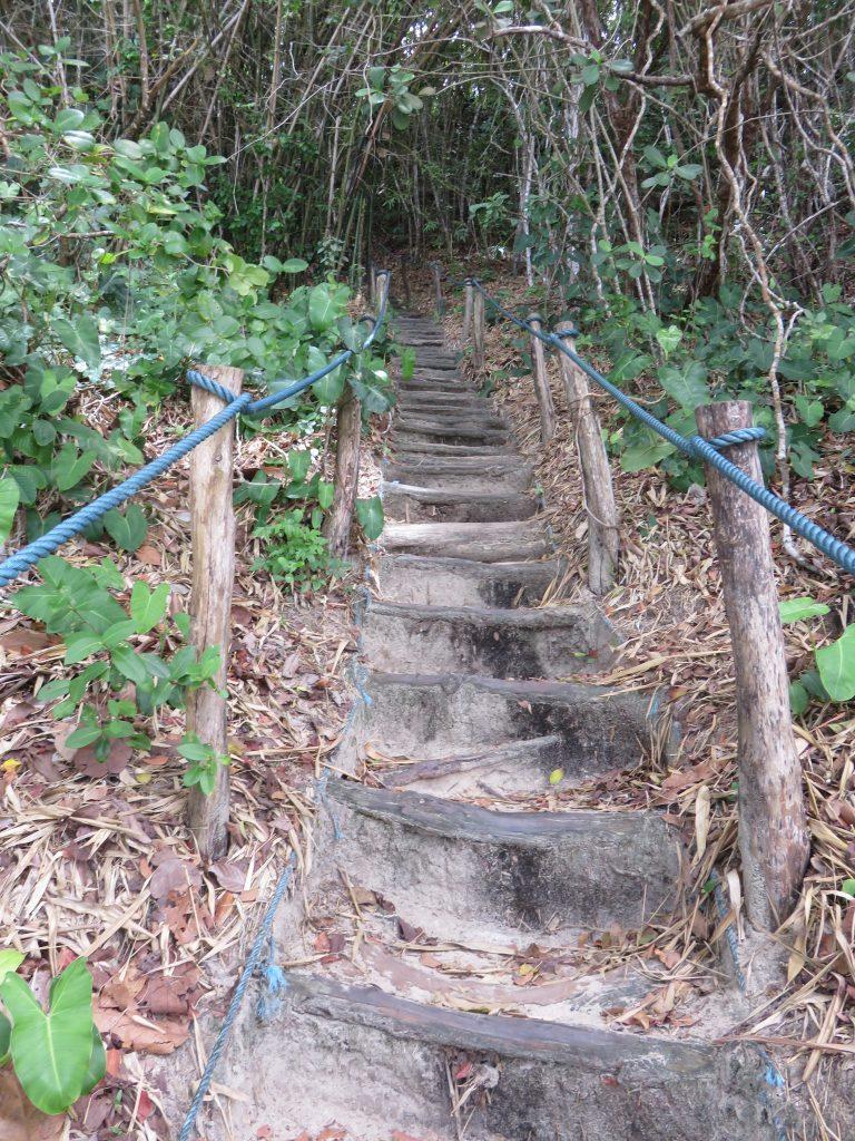 Escada que leva do Santuário Ecológico de Pipa à Praia do Madeiro. Foto: Marcelle Ribeiro.