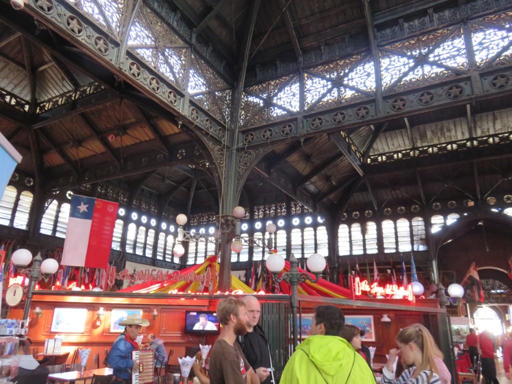 Mercado Central de Santiago. Foto: Marcelle Ribeiro.