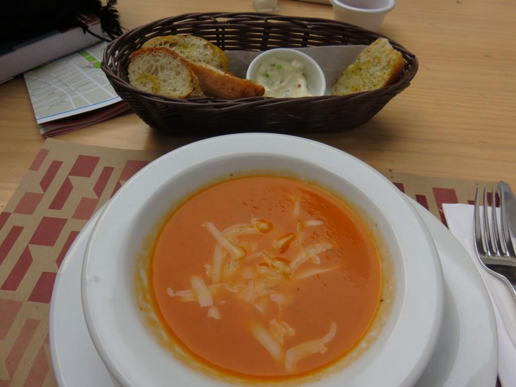Restaurante do Museu Precolombino de Santiago. Foto: Marcelle Ribeiro.