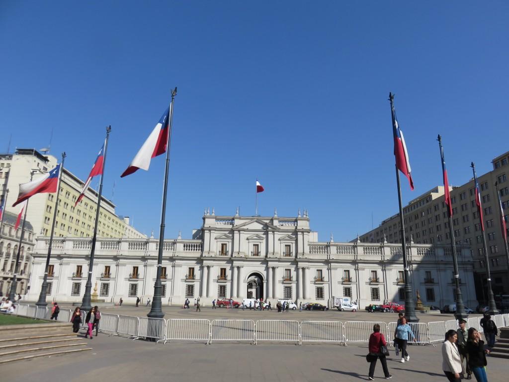 Palácio de La Moneda. Foto: Marcelle Ribeiro.
