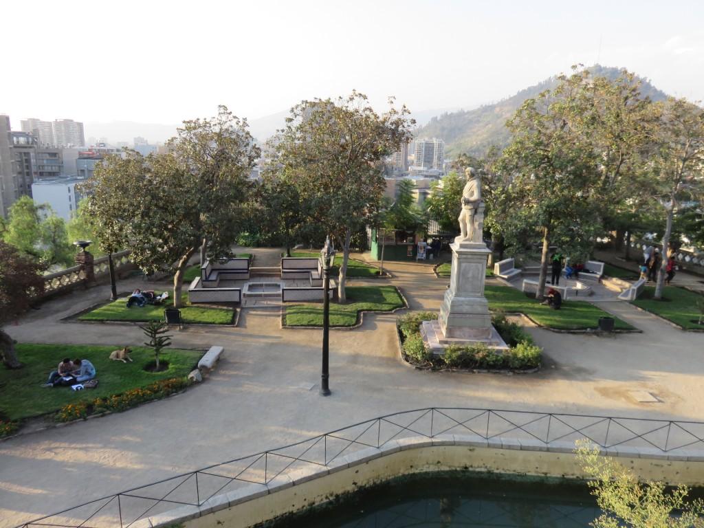 Cerro Santa Lucía, em Santiago. Foto: Marcelle Ribeiro.