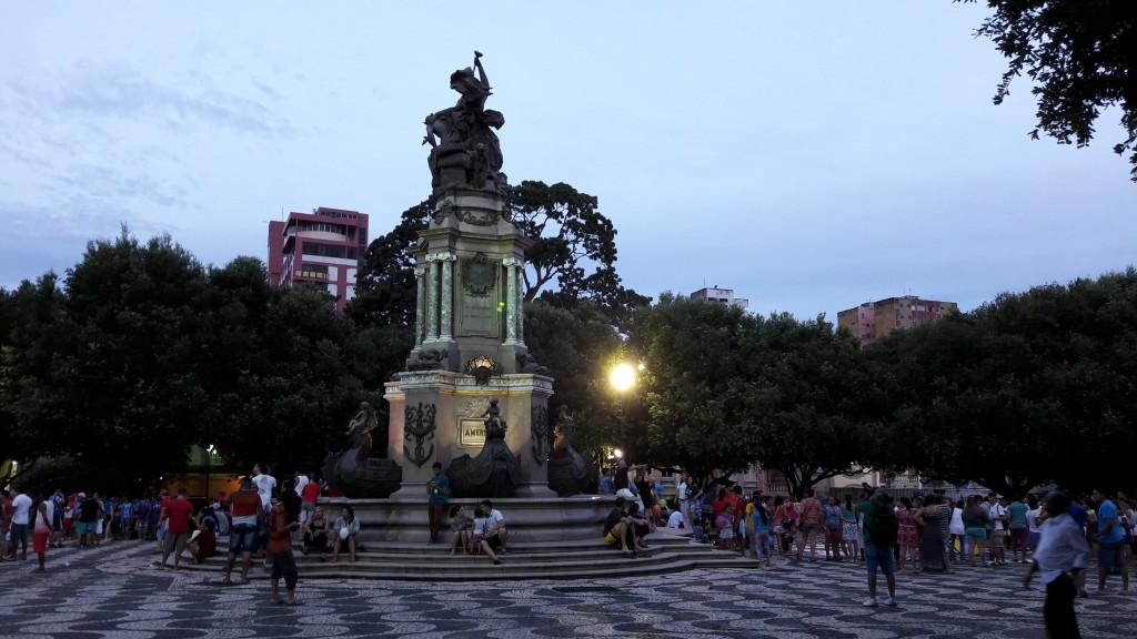 Praça São Sebastião, Centro de Manaus. Foto: Marcelle Ribeiro.