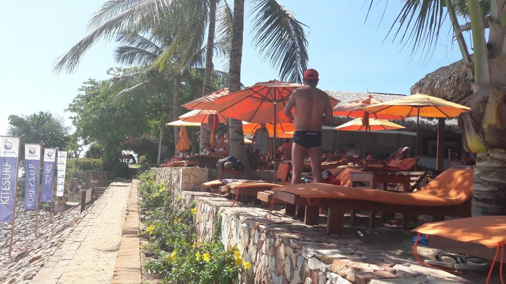 Barraca Clube dos Ventos, na praia principal de Jeri. Foto: Marcelle Ribeiro.
