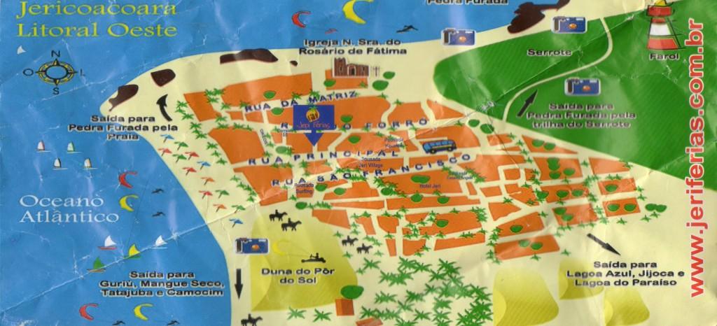 Mapa de Jericoacoara.