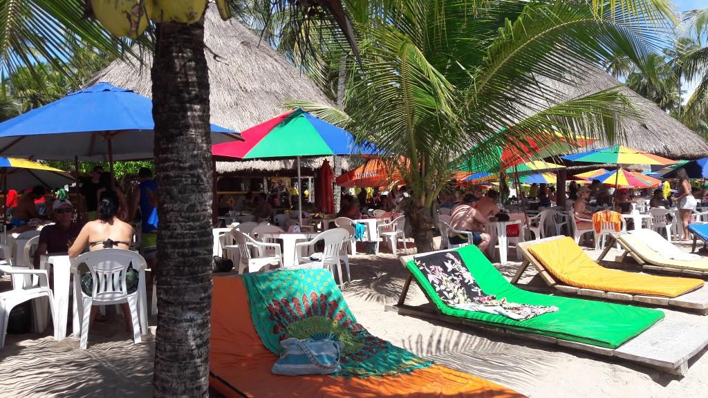 Barraca Bora Bora, na Praia dos Carneiros. Foto: Marcelle Ribeiro.