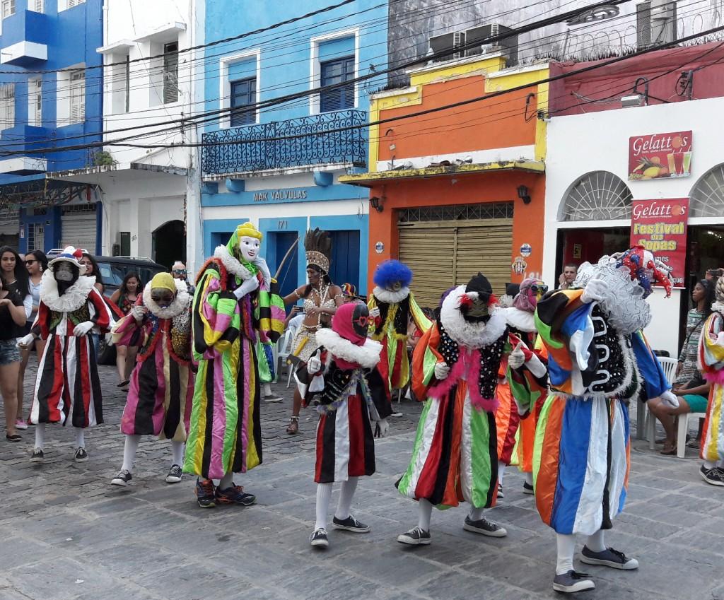 Bloco de freio nas ruas do Recife Antigo. Foto: Marcelle Ribeiro.