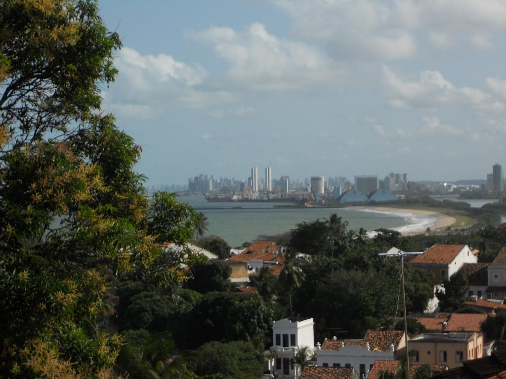 Recife vista das ladeiras de Olinda. Foto: Marcelle Ribeiro.