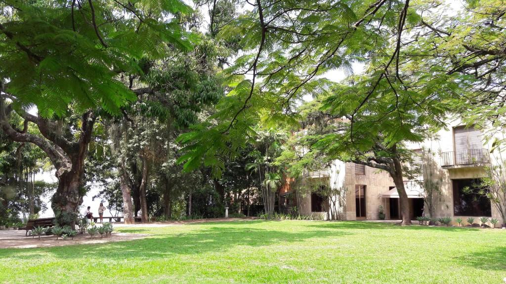 Jardim do Museu Chácara do Céu, em Santa Teresa. Foto: Marcelle Ribeiro