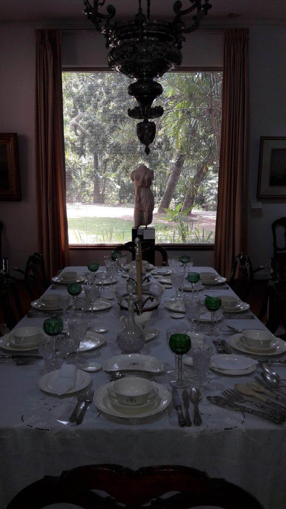 A sala de jantar foi preservada no Museu da Chácara do Céu. Foto: Marcelle Ribeiro
