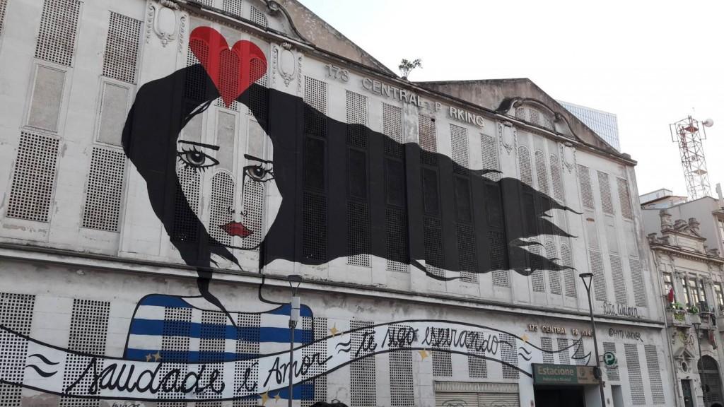 Grafite perto do Praça Mauá, no Rio de Janeiro. Foto: Marcelle Ribeiro