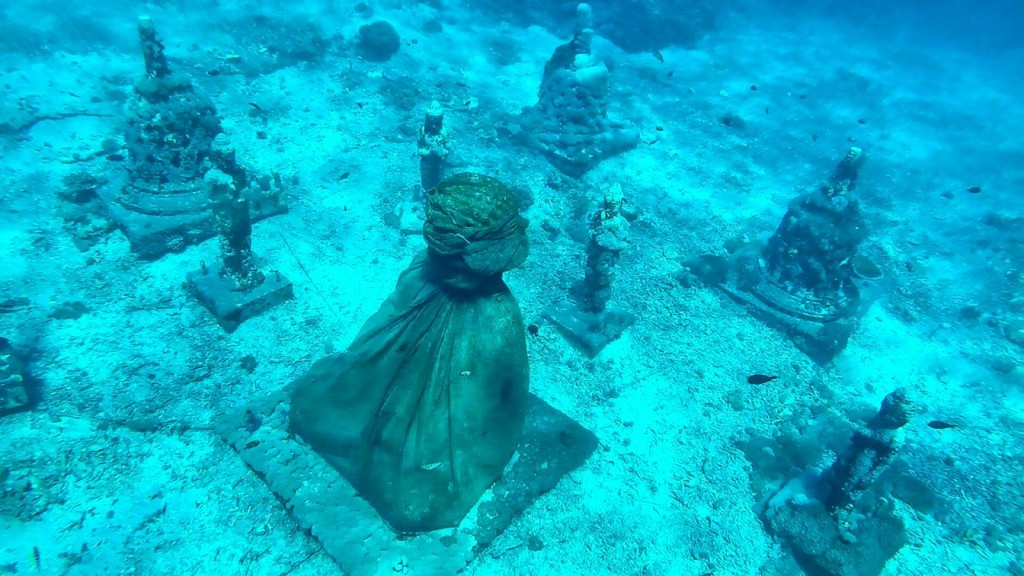 Underwater Buda, em Nusa Lembongan. Foto: Jeann Marcell Andrade