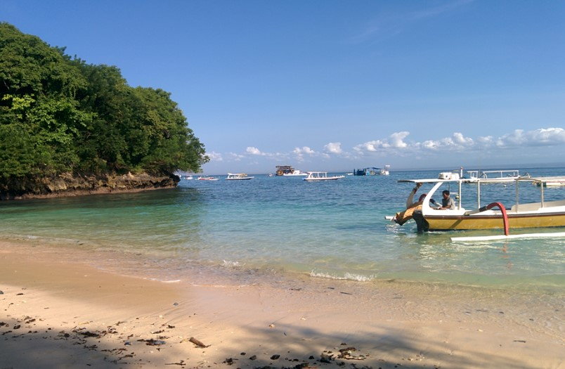 Coconut Beach, em Nusa Lembongan. Foto: Jeann Marcell Andrade.