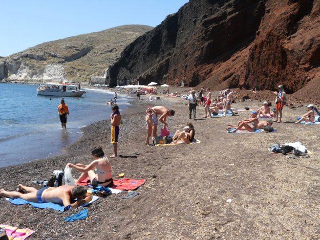 O que fazer em Santorini, Red Beach
