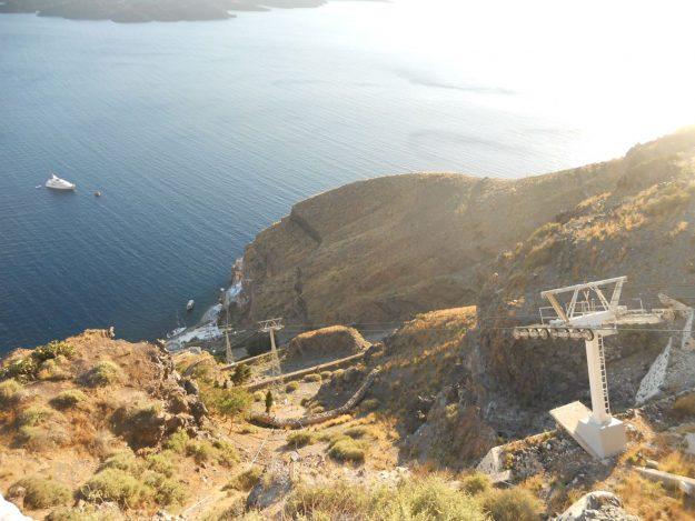 O que fazer em Santorini, teleférico